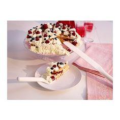 ENVIS Cake slice and cake knife, white Ikea, Cake Slicer, Cake Knife, Baking Pans, Oatmeal, Food And Drink, Breakfast, Heart, Kitchen