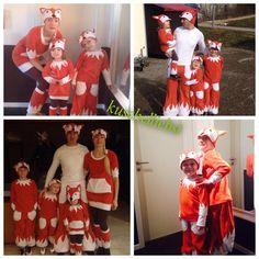 Die zuckersüße Fuchs-Familie #karneval #nähwettbewerb