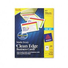 Avery Two-Side Printable Clean Edge Business « Holiday Adds
