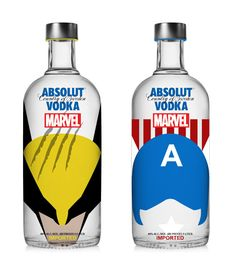 Absolut Vodka x Marvel (Concept) on Packaging of the World - Creative Package Design Gallery