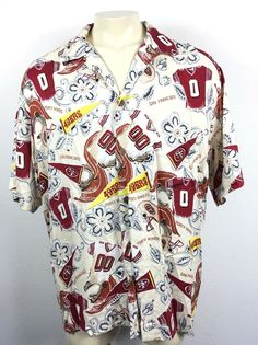 e939df51a SUN  amp  TURF Mens Camp Hawaiian Style Rayon NFL San Francisco 49ers Shirt  XXL E13