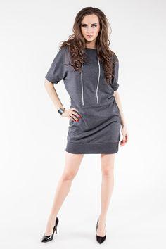 Soleil Half Sleeve Tunic Dress - Plus Too That Look, Take That, Sweatshirt Dress, Half Sleeves, High Neck Dress, Dresses For Work, Tunic, Sweatshirts, Casual