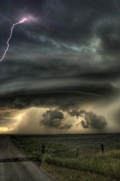 Beautiful supercell storm cloud