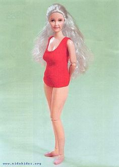 Ha! Realistic aging Barbie!  She's even traded in her high heels for sensible flats.