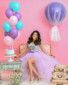 30th Birthday Themes, Birthday Goals, 30th Birthday Parties, Birthday Balloons, Birthday Decorations, Girl Birthday, Birthday Girl Pictures, Birthday Photos, Birthday Party Photography