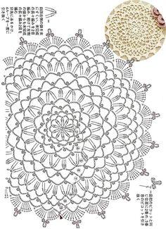 Free Crochet Doily Patterns, Crochet Circles, Crochet Diagram, Crochet Chart, Crochet Designs, Crochet Doilies, Crochet Flowers, Crochet Lace, Crochet Needles