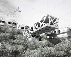 archaus' Folly prefab skin was inspired by sunlight filtering through leaves | Inhabitat - Sustainable Design Innovation, Eco Architecture, Green Building