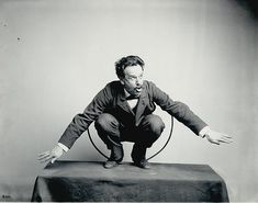 Franz Boas posing for the Hamat'sa life group figures