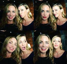 Caity Lotz and Katie Cassidy Selfie #MegaCrossover #BlackCanary #WhiteCanary