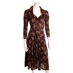vintage 1970s Lee Bender Bus Stop dress