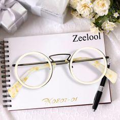 d745de64393 Bonnie Round Creamy Glasses FX0807-01