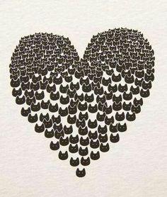 Corazón gatuno para compartir!