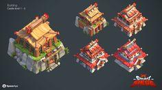 Samurai Siege - Castle, Vicki Wong on ArtStation at https://www.artstation.com/artwork/nZa9E