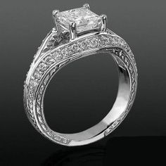 Diamond Paved Artistically Designed Split Shank Engagement Ring Check out the website to see Split Shank Engagement Rings, Diamond Engagement Rings, Designer Engagement Rings, Vintage Engagement Rings, Bridal Jewelry, Jewelry Box, Jewellery, Ring Bearer Pillows, Princess Cut Diamonds