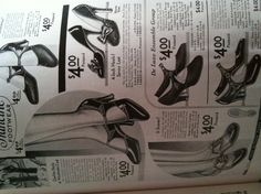 1930s shoes from Sears catalogs