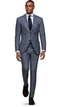 Suit Light Blue Plain Napoli P5291 | Suitsupply Online Store