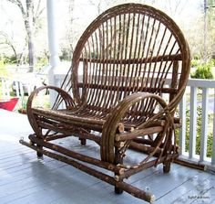 Twig Willow Porch Swing  Hand crafted rustic by AmericanWillow, $349.00-LOVE THIS!