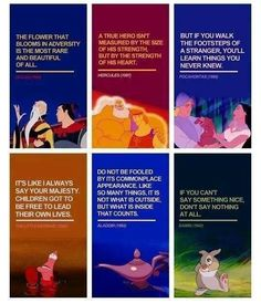 Wise words from Disney. I think if everyone watched a Disney movie on a regular basis, we would all be much better people. The Words, Citations Disney, Great Quotes, Inspirational Quotes, Quotes Quotes, Funny Quotes, Tattoo Quotes, Amazing Quotes, Famous Quotes