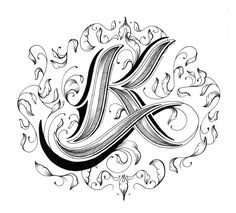 Letter k Love Letters - Hand Drawn Alphabet by Raul Alejandro Script Lettering, Lettering Styles, Graffiti Lettering, Lettering Design, Calligraphy Letters, Typography Poster, Fancy Letters, Love Letters, Letras Tattoo