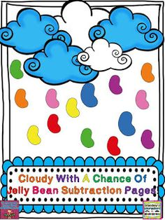 FREEBIE---Cloudy With A Chance Of Jelly Beans Subtraction Worksheets