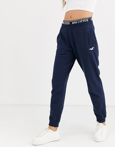 Hollister logo slim jogger at ASOS. Shop this season's must haves with multiple delivery and return options (Ts&Cs apply). Hollister Sweatpants, Cute Sweatpants, Hollister Logo, Hollister Clothes, Sweatpants Outfit, Cute Pants, Jogger Sweatpants, Casual Clothes, Cute Cowgirl Outfits