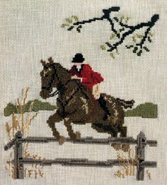 This vintage OOP cross stitch leaflet titled Call of the Huntsman Vol. 2, was published by Dobber Designs in 1982. It contains charts for three different lovely fox hunt and derby horn projects designed by Dee Dee Triplett. This leaflet contains DMC, Bates and PPW color keys and a black/red/white chart. This booklet is in very good vintage condition. Once finished these projects would make a wonderful addition to a library or study, or add a touch of Downton Abby class to any room!  The…