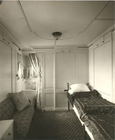 Inside Lusitania | Interior of the Lusitania, 1905-1907 - Stateroom