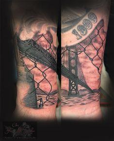 Lückenfüller :-) #forlifecolor #christattoo #worldfamousink #tattoorosenheim #raublingtattoo #tatts #tattoo #tattooedmen #germantattooers #tattoos #tattooink #tattoosofinstagram #inked #inkedlife #goldengatebridge #bridge #blackandgreytattoo
