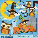 Halloween Owl clipart, Owl clipart,