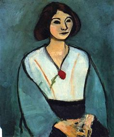 Woman in Green with a Carnation - Henri Matisse                                                                                                                                                      More