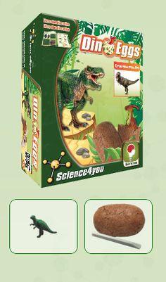 DINO EGGS - TYRANNOSAURUS-REX  Descobre: - O habitat dos dinossauros - O que é a paleontologia - Que tipos de fossilização existem - As causas de extinção dos dinossauros - Características e curiosidades destes fantásticos seres pré-históricos