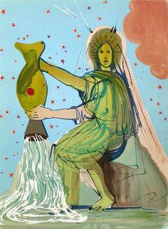 Salvador Dalí Illustrates the Twelve Signs of the Zodiac – Brain Pickings , sternzeichen verseau vierge zodiaque Age Of Aquarius, Aquarius Zodiac, Aquarius Art, Zodiac Horoscope, Horoscopes, Scorpio, Alphonse Mucha, Zodiac Art, Zodiac Signs
