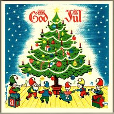 """God Jul!"" trivet tile.  This is a reproduction of a Berggren Trayner trivet tile from the 1960's.  For sale in my eBay store."