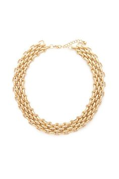Mesh Chain Statement Necklace