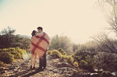 Cuddling up with a blanket | Kenny and Estelita's South African Adventure
