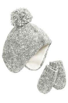 Buy Boys newborn Newborn Gloves Gloves from the Next UK online shop. Buy  Grey Marl Trapper Hat ... 1d8d806ea0d0