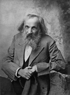 Dmitri Meneleyev. Russian Chemist. Inventor of the periodic table of elements.