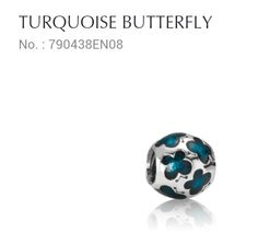 Turquoise Butterfly .. would match my PCOS tattoo butterfly for awareness