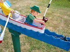 Whirligig Fisher in a Row Boat 2 - Veleta animada pescador en bote a remos 2 - YouTube