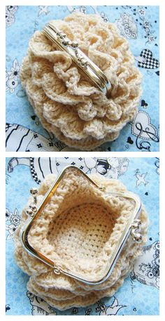 Crochet Purses Patterns Crochet Coin Purse Free Pattern - Coins could be very helpful in certain situations. Here are some Crocheted Coin Purse Free Patterns to help make special and beautiful purses to keep coins. Crochet Change Purse, Crochet Coin Purse, Bag Crochet, Crochet Shell Stitch, Crochet Handbags, Crochet Purses, Crochet Clothes, Free Crochet, Purse Patterns Free