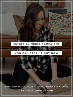 Do you know you need to be organized with your social media strategy but don't know where to start? Do you want to run a campaign, but feel like only big brands can do that? My FREE workbook will give you the framework for TWENTY different campaigns you can use for your business. Click to go to download it from my resource library.
