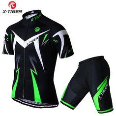 X-Tiger Summer Cycling set Racing Bicycle Clothing Mans Maillot Ropa  Ciclismo 2017 Summer Quick 1b9cb1cc7