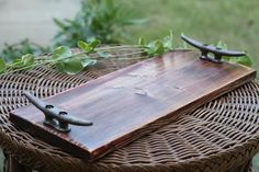 Barn Wood Dock Cleat Serving Tray, Nautical Home Decor, Housewarming Gift, Rustic Lake Home Decor, Barn Wood Serving Tray, Veranda Decor, by ChatterByHammer on Etsy