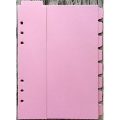 SALE!!! 50% off!!! Shimmering Pink Marion Smith Planner Dividers