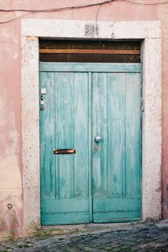 Turquoise Door Photo Architecture PhotographTravel by hellotwiggs