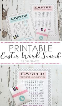 Printable Easter Word Search | Easter Puzzles and Games | Easter Activity Sheets via @thegirlcreative