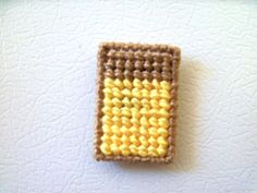 Geometric Fridge Magent, Fridge Magnet, Refrigerator Magnet, Tan and Yellow Magnet, Unique Fridge Magnet #etsy  #etsyretwt