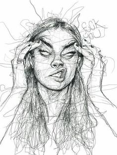 Angry woman art