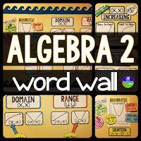 high school Math word wall