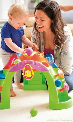 Helps your baby go from sitting to standing while keeping his attention with sounds, lights and action! #FisherPrice #Toys #Ballcano